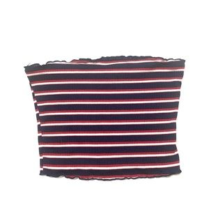 Ambiance Red, White and Blue Tube Top